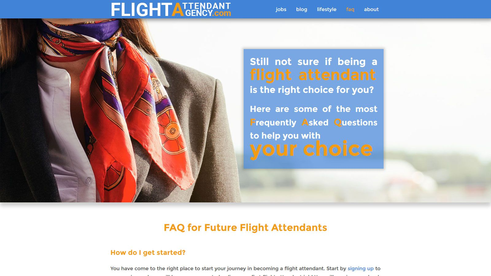 Flight Attendant Agency 3